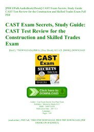 [PDF EPuB AudioBook Ebook] CAST Exam Secrets  Study Guide CAST Test Review for the Construction and Skilled Trades Exam Full PDF