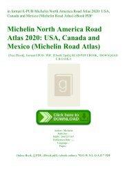 in format E-PUB Michelin North America Road Atlas 2020 USA  Canada and Mexico (Michelin Road Atlas) eBook PDF