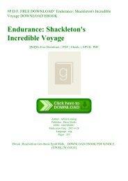 #P.D.F. FREE DOWNLOAD^ Endurance Shackleton's Incredible Voyage DOWNLOAD EBOOK