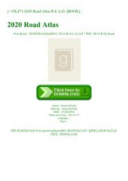 (P.D.F. FILE) 2020 Road Atlas R.E.A.D. [BOOK]