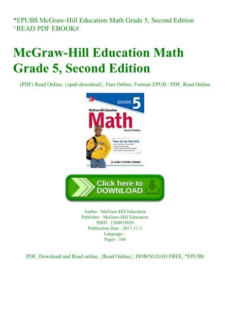 McGraw-Hill Education Math Grade 3 Second Edition