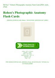 Pdf free^^ Rohen's Photographic Anatomy Flash Cards [PDF  mobi  ePub]
