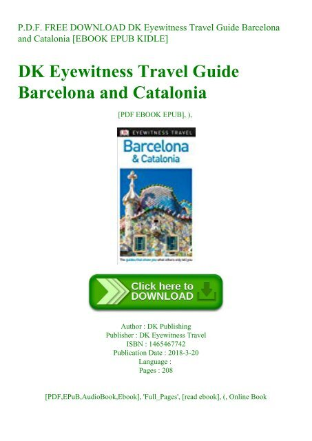Eyewitness Travel Guides Barcelona And Catalonia