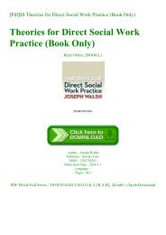 [Pdf]$$ Theories for Direct Social Work Practice (Book Only) EBOOK