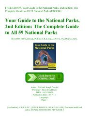 FREE EBOOK Your Guide to the National Parks  2nd Edition The Complete Guide to All 59 National Parks (EBOOK