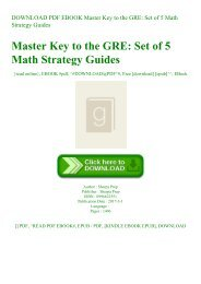 DOWNLOAD PDF EBOOK Master Key to the GRE Set of 5 Math Strategy Guides ^R.E.A.D.^