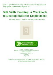 [R.E.A.D] Soft Skills Training A Workbook to Develop Skills for Employment ^#DOWNLOAD@PDF^#