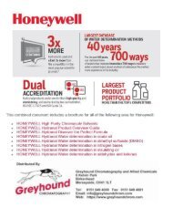 HONEYWELL Solvents (combined files)