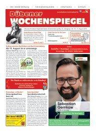 Dübener Wochenspiegel - Ausgabe 15 - Jahrgang 2019