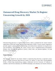 Outsourced Drug Discovery Market Revenue Growth Predicted by 2026