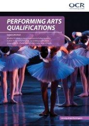Performing Arts Qualifications Summary Brochure