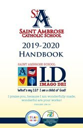 Saint Ambrose School Student Handbook 2019-2020