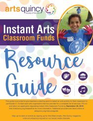 2019-20 Instant Arts Resource Guide Program Catalog