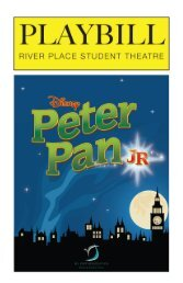 2018 - 2019 Peter Pan Jr. Playbill