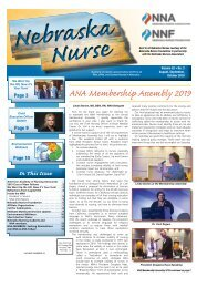 Nebraska Nurse - August 2019