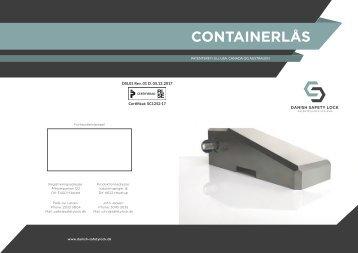 Containerlås - Danish Safety Lock
