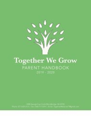 TWG Parent Handbook 2019-2020