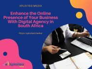 Enhance the Online Presence of Your Business With Digital Agency in South Africa