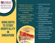 Study Hospitality and Tourism in Singapore