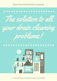 The solution to all your drain cleaning problems!