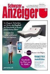 Schwyzer Anzeiger – Woche 32 – 9. August 2019