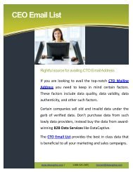 Top 7 advantages of opting for CTO mailing list