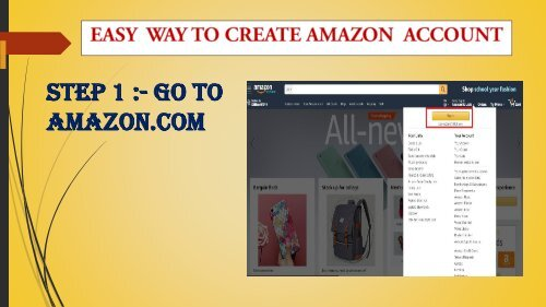 Easy Way To Create Amazon Account