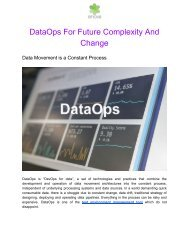 DataOps for Future Complexity and Change