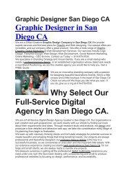 Aku Graphic Designer San Diego CA   619-678-0530