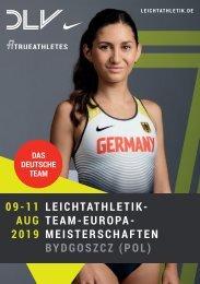 DLV-Teambroschüre Team-Europameisterschaften 2019 in Bydgoszcz