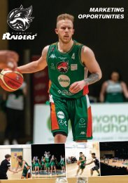 Plymouth Raiders Marketing Booklet