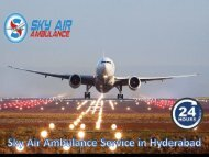 Avail Fast Air Ambulance Service from Hyderabad