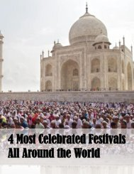 4 Most Celebrated Festivals All Around the World