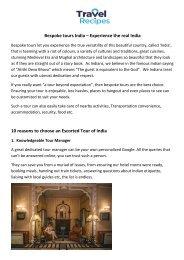 Ten reasons to take bespoke tours of India