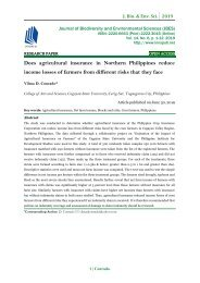 Does agricultural insurance in Northern Philippines reduce income losses of farmers from different risks that they face   JBES-Vol-14-No-6-p-1-12
