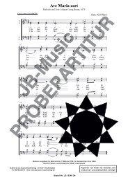 Ave Maria zart (Weihnachtslied für SATB, SAM, TTBB, TTB, SSA)