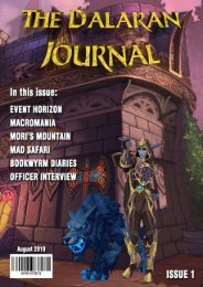 The Dalaran Journal, Issue 1 - August 2019