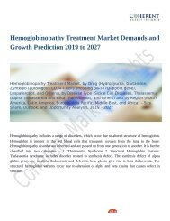 Hemoglobinopathy Treatment Market is Anticipated to Show Growth by 2027