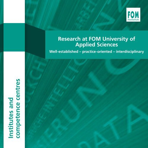 Research at FOM University of Applied Sciences