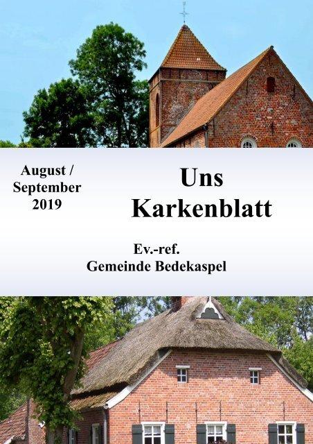 Uns Karkenblatt August&September 2019