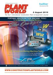 Construction Plant World 8th August 2019