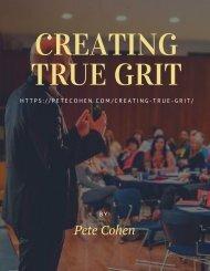 Creating True Grit