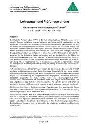 Lehrgangs- und Prüfungsordnung für zertifizierte DWV-Wanderführer®/*innen® des Deutschen Wanderverbandes