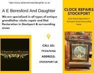 Clock Repairs Stockport