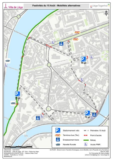 Carte de mobilité alternative dans le cadre des festivités du 15 aout 2019