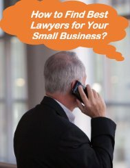 How To Find Best Lawyers For Your Small Business