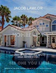 Off-Market Homes List - Summer 2019