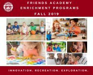 Fall 2019 Enrichment Program Descriptions