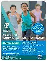 Jennersville YMCA Fall Program Guide - 2019