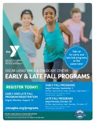 OLY Early and Late Fall Program Guide